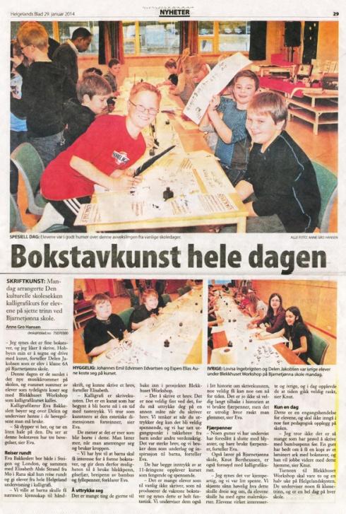 artikkel Helgelands Blad